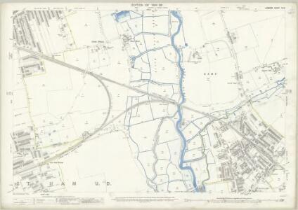 London (Edition of 1894-96) XLIV (includes: Barking; East Ham; Ilford) - 25 Inch Map