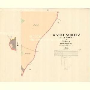 Watzenovitz (Wacenowic) - m3248-1-008 - Kaiserpflichtexemplar der Landkarten des stabilen Katasters