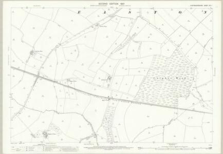 Huntingdonshire XXI.1 (includes: Easton; Ellington; Grafham; Great Staughton; Kimbolton; Spaldwick; Stow Longa) - 25 Inch Map