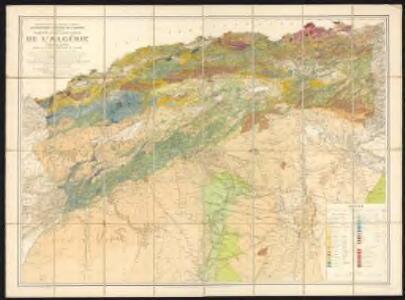 Carte géologique de l'Algérie