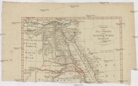 Charte vom Nil Strome oder AEgypten Nubien und Habesch