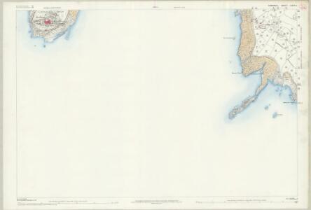 Cornwall LXXIV.8 (includes: Perranuthnoe; St Michaels Mount) - 25 Inch Map