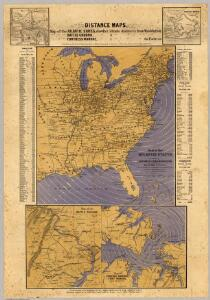 Map of the Atlantic States, Showing Distances From Washington (In BeeLine) By 50 Mile Circles.