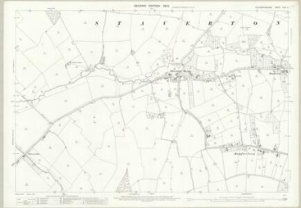 Gloucestershire XXVI.5 (includes: Badgeworth; Churchdown; Down Hatherley; Staverton) - 25 Inch Map