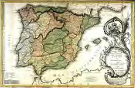Nouvele carte phisique politique et astronomique des royaumes d'Espagne et de Portugal