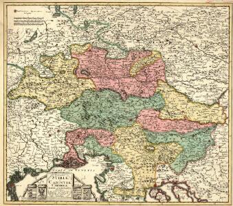 Ducatus Stiriae et Carintiae Carniolae Cilleiae q; Comitatus, Nova Tabula que et Paris est Meridionalior Circuli Austriaci