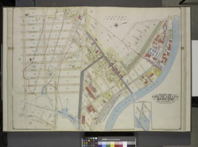 Queens, Vol. 2, Double Page Plate No. 4; Part of Long Island City Ward One (Part of Old Wards 1 & 2 ) Sub Plan; [Map bounded by Water  St., Marsh St., Proposed Canal]; Part of Long Island City Ward One (Part of Old  Wards 1 & 2 ) [Map bounded by Nott