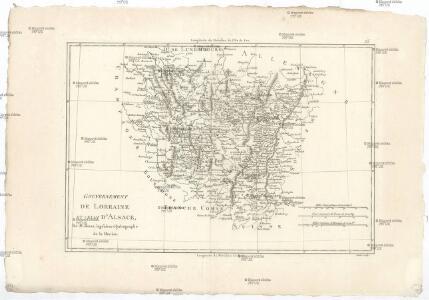 Gouvernement de Lorraine et celui d'Alsace