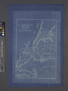 Chief Engineer's Office. Board of Estimate and Apportionment. Index Map. Showing Location of the Sectional Plans of the City of New York.