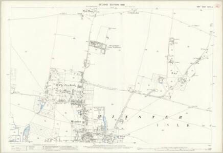 Kent XXXVII.2 (includes: Minster) - 25 Inch Map