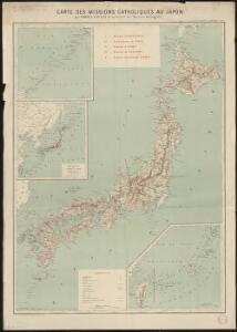 Carte des missions catholiques au Japon