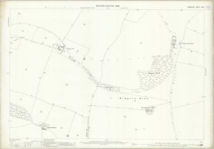 Hampshire and Isle of Wight XXII.4 (includes: Kimpton; Shipton Bellinger; South Tedworth) - 25 Inch Map