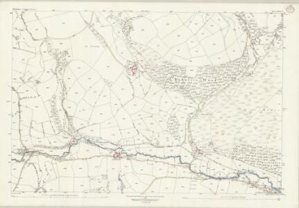 Shropshire LXXVI.3 (includes: Clun) - 25 Inch Map
