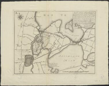Kaart (gecopieert uyt de groote kaart van Rhynland d'A° 1687) waar in vertoont word, een concept boven boezem op tweederley wyze, met derzelver boven molens omtrent Spaerendam ...