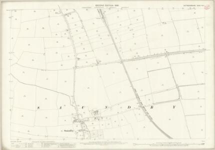 Nottinghamshire VII.11 (includes: Beckingham; Saundby) - 25 Inch Map