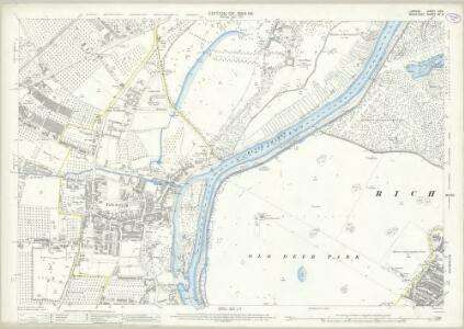 London (Edition of 1894-96) XCVI (includes: Heston and Isleworth; Richmond) - 25 Inch Map