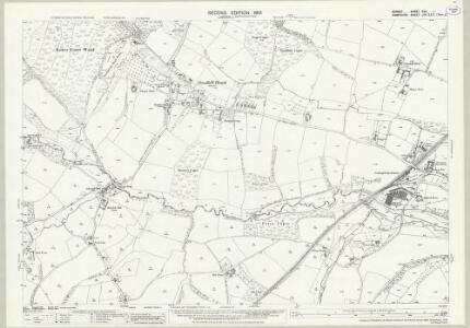 Dorset XVII.1 (includes: Alderholt; Damerham; Fordingbridge; Rockbourne) - 25 Inch Map