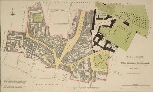 PLAN of the PARISH of ST. SEPULCHRE, MIDDLESEX