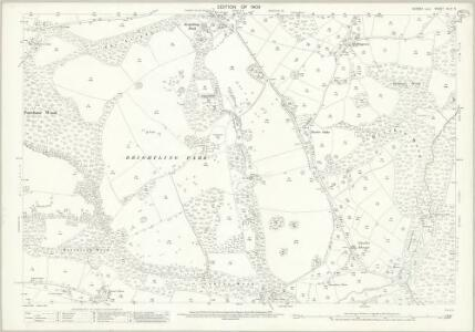 Sussex XLIII.5 (includes: Brightling) - 25 Inch Map