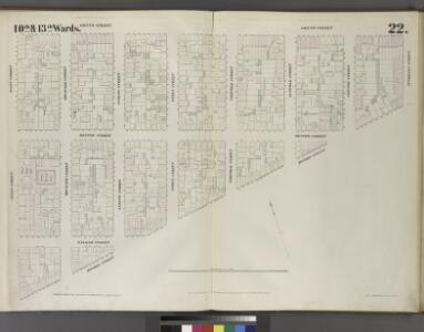 Plate 22:Map bounded by Grand Street, Attorney Street, Division Street, Allen Street.