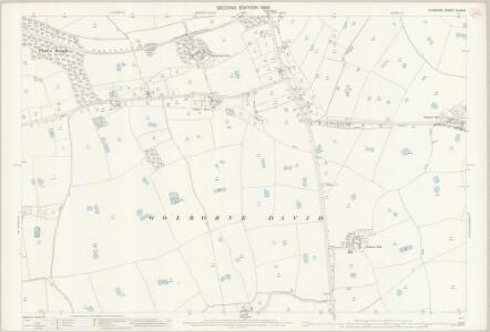 Cheshire XLVII.9 (includes: Golborne Bellow; Golborne David; Hatton; Lea Newbold; Saighton) - 25 Inch Map
