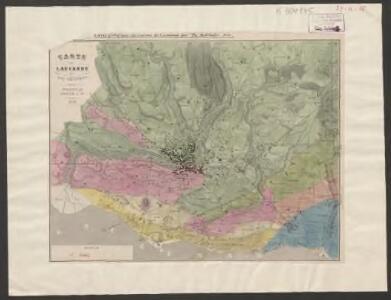 Carte de Lausanne et ses environs