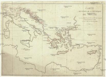 Carte des états de la république de Venise