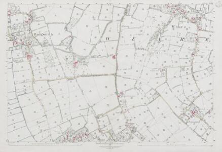 Somerset XXVI.7 (includes: Badgworth; Chapel Allerton; Weare) - 25 Inch Map