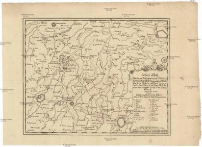 Schau-Platz deren zu Hungarn und Böheim königl. Majestät siegreichen Waffen, so in Italien zwischen Campo Santo und Solara an dem Fluß Panaro den 8ten Febr. Annô 1743 vorgefallen ist