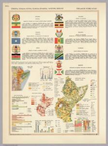Ethiopia, Somalia, Kenya, Uganda, Rwanda, Tanzania, Burundi.  Pergamon World Atlas.