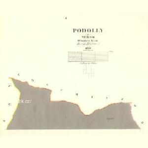 Podolly - m2327-1-001 - Kaiserpflichtexemplar der Landkarten des stabilen Katasters