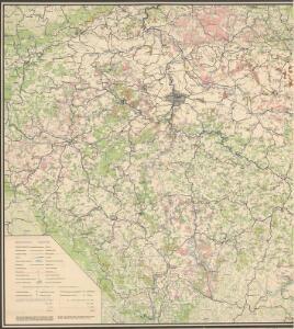 Karte der Holzartenverbreitung in Protektorat Böhmen und Mähren