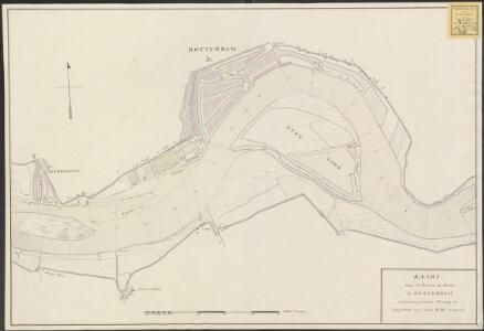 Kaart van de rivier de Maas bij Rotterdam volgens gedaane meeting in Augustus 1791