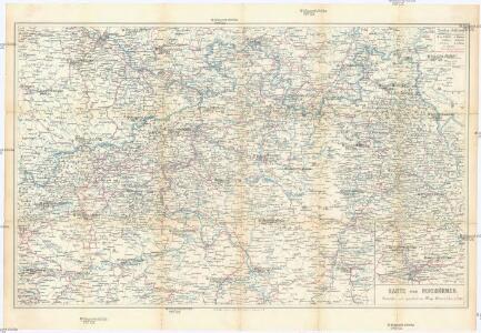 Karte von Nordböhmen