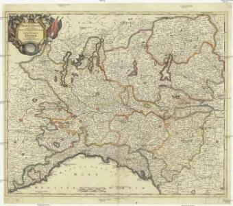 Status Mediolanensis, nec non ducatuum Mantuae, Modenae, Parmae ut et Genuensis reipublicae, suis cum finitimis dominiis accuratissima delineation