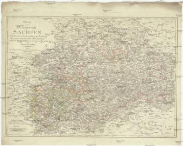 Charte von dem Königreiche Sachsen