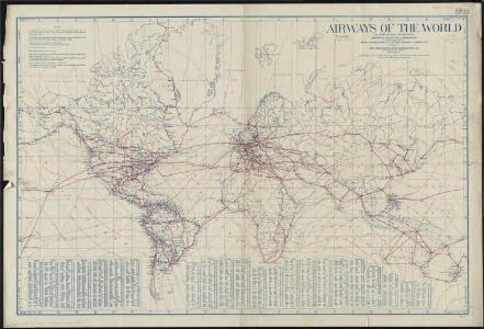 Airways of the world on Mercator's projection