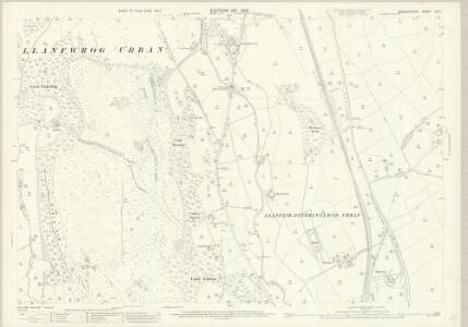 Denbighshire XIX.11 (includes: Efenechtid; Llanbedr; Llanfair Dyffryn Clwyd Rural; Llanfwrog Rural; Rhuthun) - 25 Inch Map