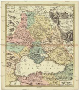 Tabula geographica qua pars Russiae Magnae, Pontus Euxinus seu Mare Nigrum et Tauriae Regnum cum finitimis Bulgariae, Romaniae et Natoliae provincis exhibetur