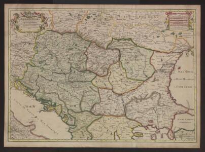 Le Royaume de Hongrie et les estats qui en esté sujets et qui sont presentement la partie septentrionale de la Turquie en Europe. Tiré des memoires les plus nouveaux