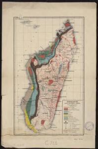 Madagascar. Carte géologique et minière