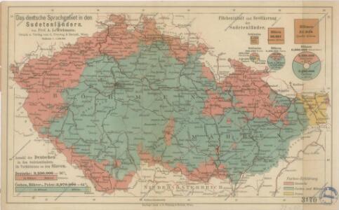 Das Deutsche Sprachgebiet in den Sudetenländern