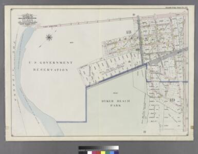 Double Page Plate No. 23: [Bounded by (U.S. Government Reservation) Fort Hamilton Avenue, 86th Street, Bay 2nd Street, Benson Avenue, Delaplaine Street, Atlantic Avenue, (Dyker Beach Park) Seventh Avenue, 170th Street, Battery Avenue, Cropsey Avenue, Dah