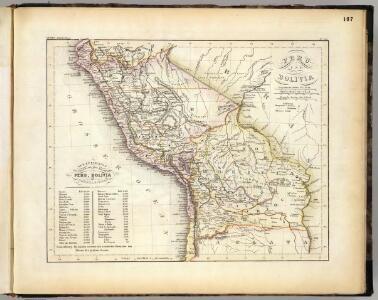Peru, Bolivia.
