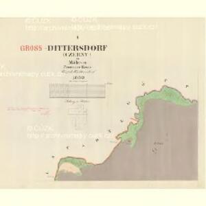 Dittersdorf (Czerny) - m0370-1-001 - Kaiserpflichtexemplar der Landkarten des stabilen Katasters