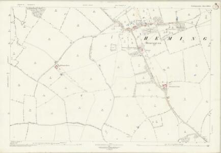 Northamptonshire XIX.15 (includes: Barnwell; Hemington; Luddington; Polebrook; Thurning) - 25 Inch Map