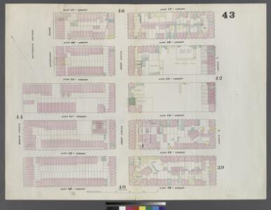 Plate 43: Map bounded by East 17th Street, Avenue A, East 12th Street, Second Avenue