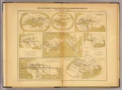 Developpement de la mappemonde grecque, Homere-Ptolemee.