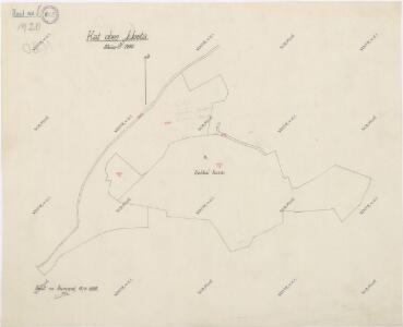 Mapa panských pozemků v katastru obce Chodská Lhota