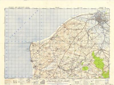 France and Belgium 1:50,000, Calais